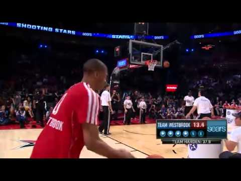 NBA ALL-STAR Shooting Stars | Team WESTBROOK, Rd 1, 29.5 seconds | Feb 16, 2013