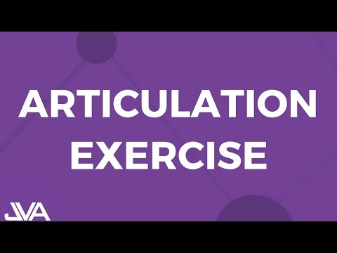 Articulation Vocal Exercise