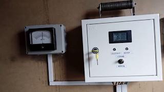 Работа электротормоза ветрогенератора на сильном ветру