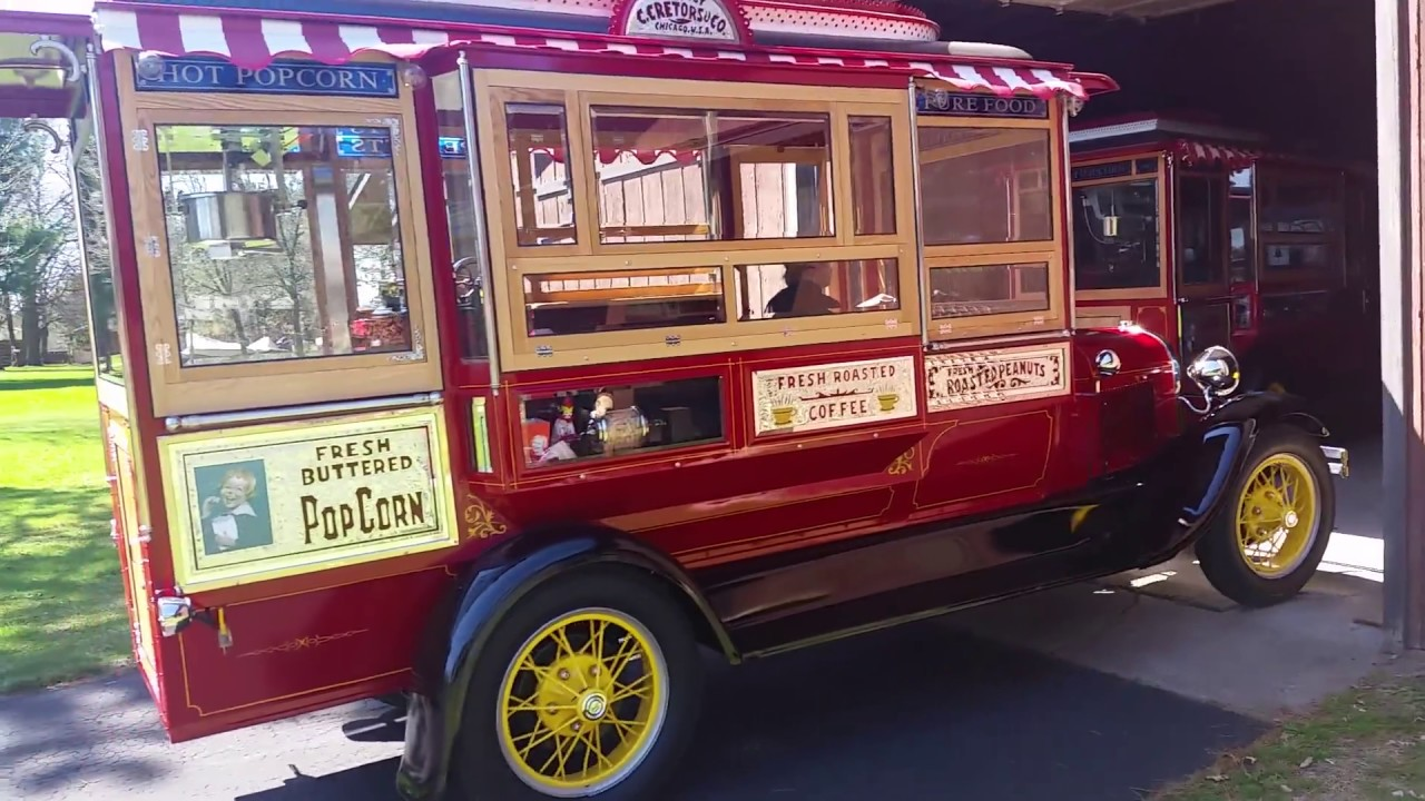 Vintage Popcorn Truck and Wagon for Sale - YouTube