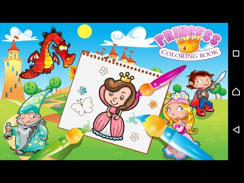 Princess Coloring Book | Coloring games for girls | Android apps for girls