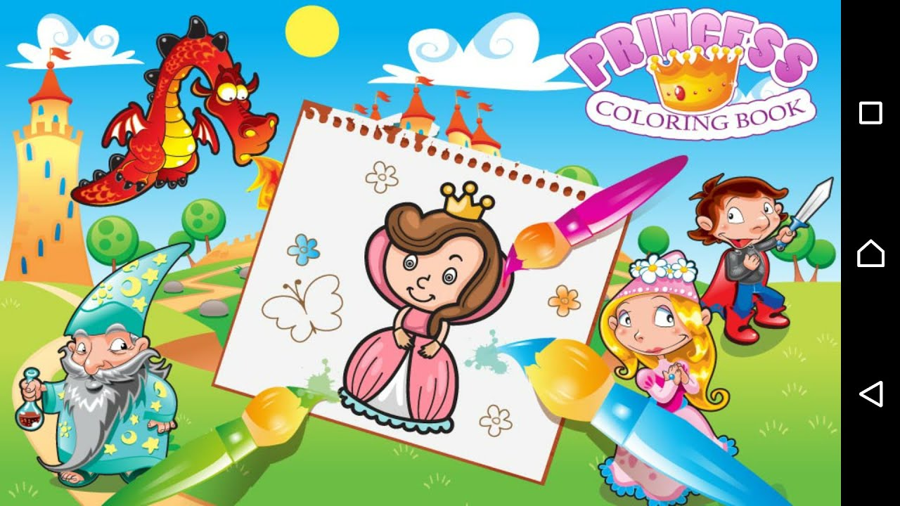 princess coloring book coloring games for girls android apps for girls youtube - Coloring Games For Girls