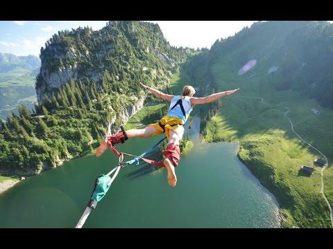 Nhảy Bungee trên cầu Kawaran, New Zealand
