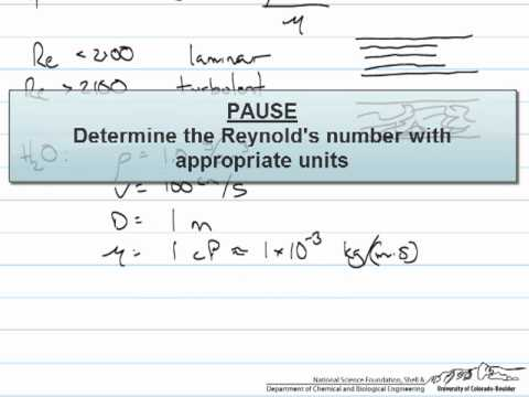Dimensionless Groups (Reynolds Number Example)