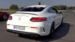 Mercedes-AMG C63 S Coupe Launch Control Exhaust Sounds!