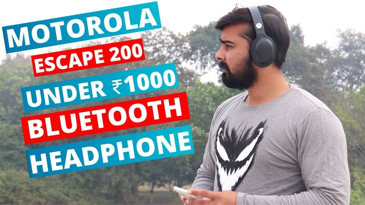 Motorola Escape 200 Wireless Bluetooth Over Ear Headphones With Google Assistant And Alexa Built In Youtube