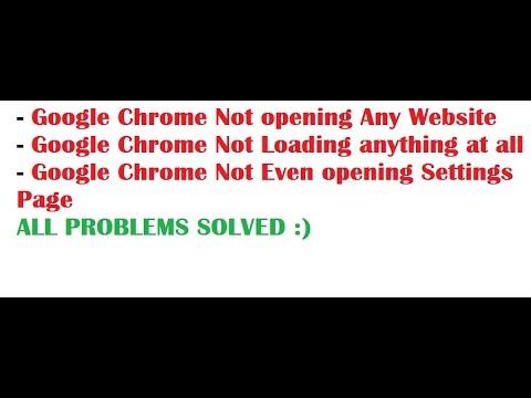Google chrome not opening windows