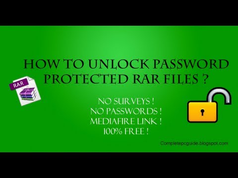 How To Open Password Protected RAR Files Without Password?
