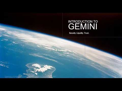 Gemini - Bitcoin and the Future of Finance