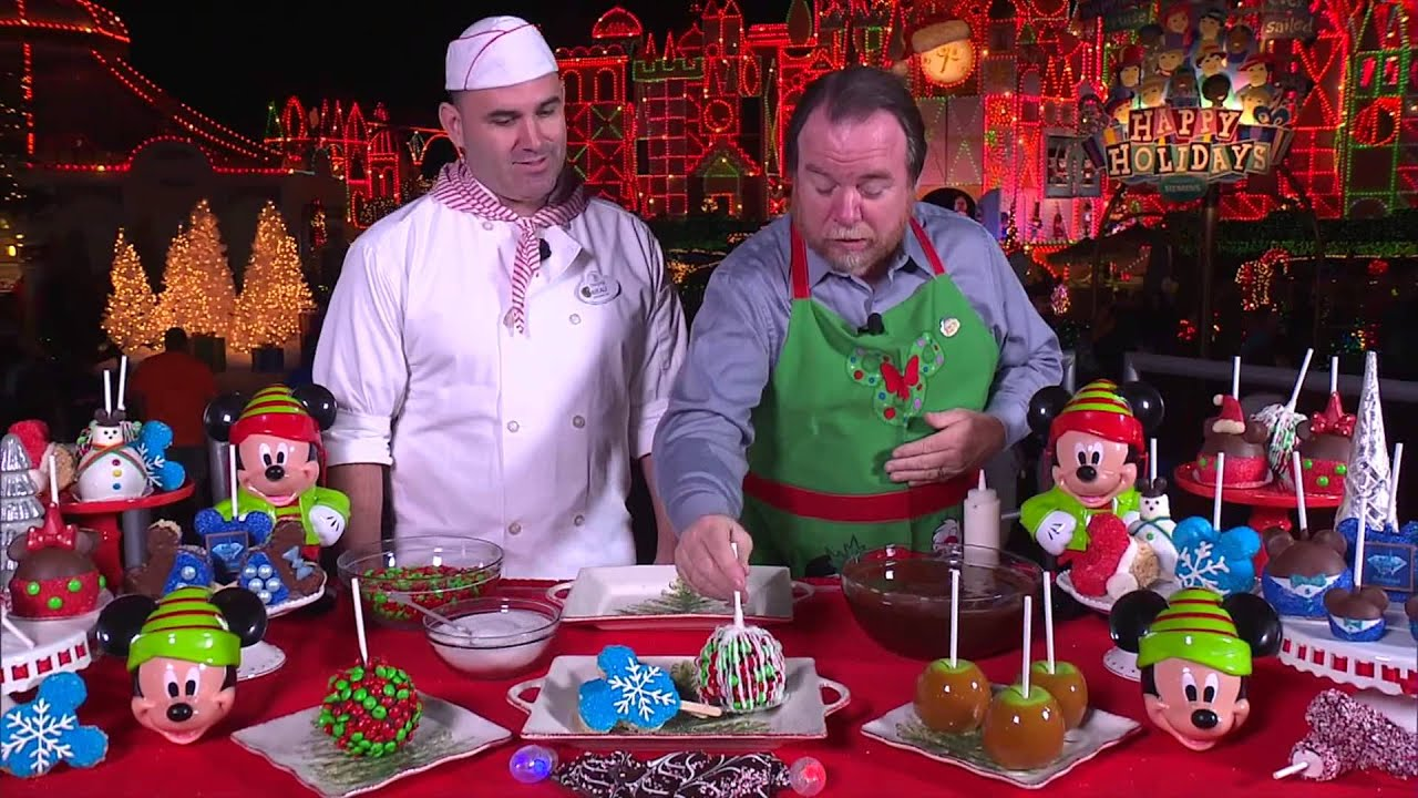 Disneyland Holiday Treats: Caramel Apple Tutorial - YouTube