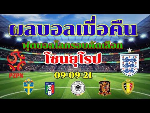 ผลบอลเมื่อคืน 09-09-21//อังกฤษสะดุดบุกเจ๊าโปแลนด์ อิตาลียังโหด