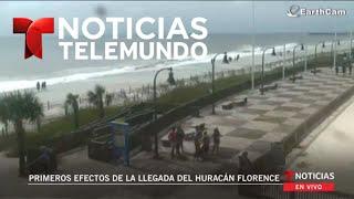 Primeros efectos de la llegada del huracán Florence a las Carolinas (sin audio)