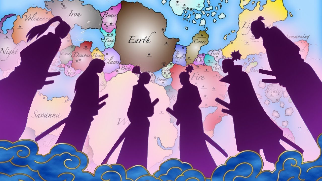Map Of The World Of One Piece.This Is A Video About Wano Country 6 Great Samurai History