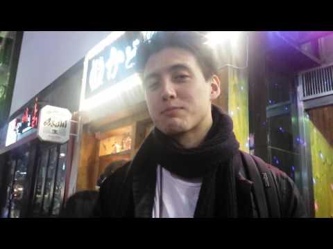 Foreign in south korea walking around hongdae club