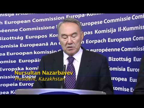 Kazakhstan's Nazarbayev asks EU to help with Central Asia problems