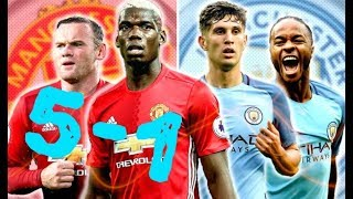 10 Biggest Manchester Derby Wins!  (Manchester United Vs Manchester City)