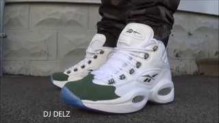Reebok Classics Question Mid Green Fifteen Sneaker On Feet Review With @DjDelz