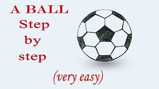 How to draw a Football step by step (very easy)