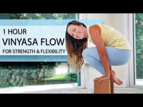1 Hour Vinyasa Flow for Strength and Flexibility - 60 min Intermediate Yoga from YouTube · Duration:  59 minutes 14 seconds