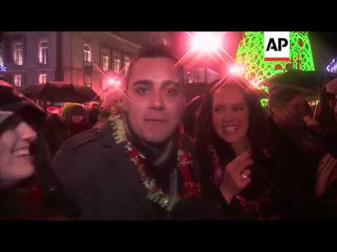 Revellers celebrate New Year's eve in Madrid