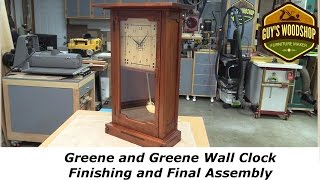 Greene and Greene Wall Clock  - Finishing and Final Assembly - Pt. 4