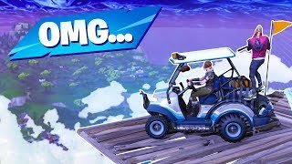 We brought the GOLF KART with us on the SKY BASE and this happened...