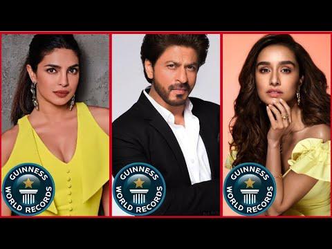 Bollywood Stars With Guinness Book Records | Shraddha Kapoor, Shahrukh Khan, Katrina Kaif,Alia Bhatt