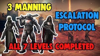 Destiny 2 - 3 Manning Escalation Protocol [All 7 Levels Completed]