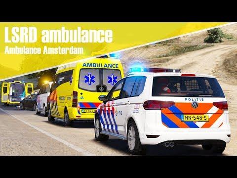GTA 5 LSRD ambulance - Ambulance Amsterdam!