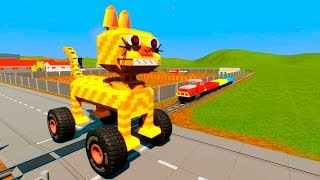 Unstoppable Massive LEGO Train Wrecks - Brick Rigs Smasher Gameplay #2