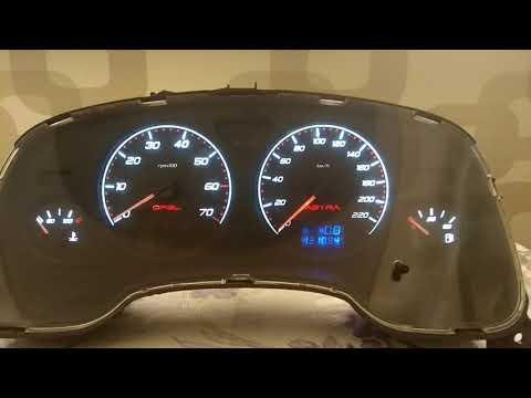 Пересвет приборной панели Opel Astra G 2007 г.в.