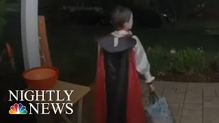 Trick Or Treat: Boy Gives Up Own Candy When He Comes Across Empty Halloween Bowl | NBC Nightly News
