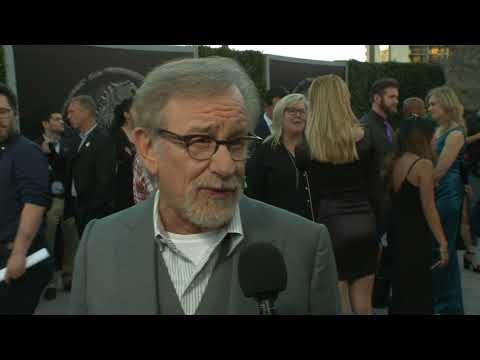Jurassic Word Fallen Kingdom LA Premiere  Itw Steven Spielberg Executive Producer