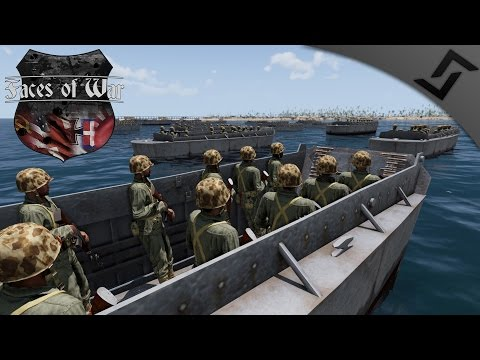 Pacific Beach Invasion - ARMA 3 Faces of War WW2 Mod - WW2 Naval Invasion