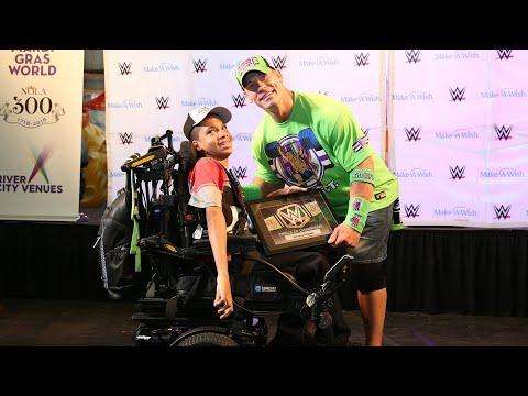 John Cena inducts wish kids into WWE's Circle of Champions during WrestleMania Week