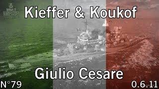 World of Warships - 0.6.11 - Giulio Cesare - Solomon Islands - HD