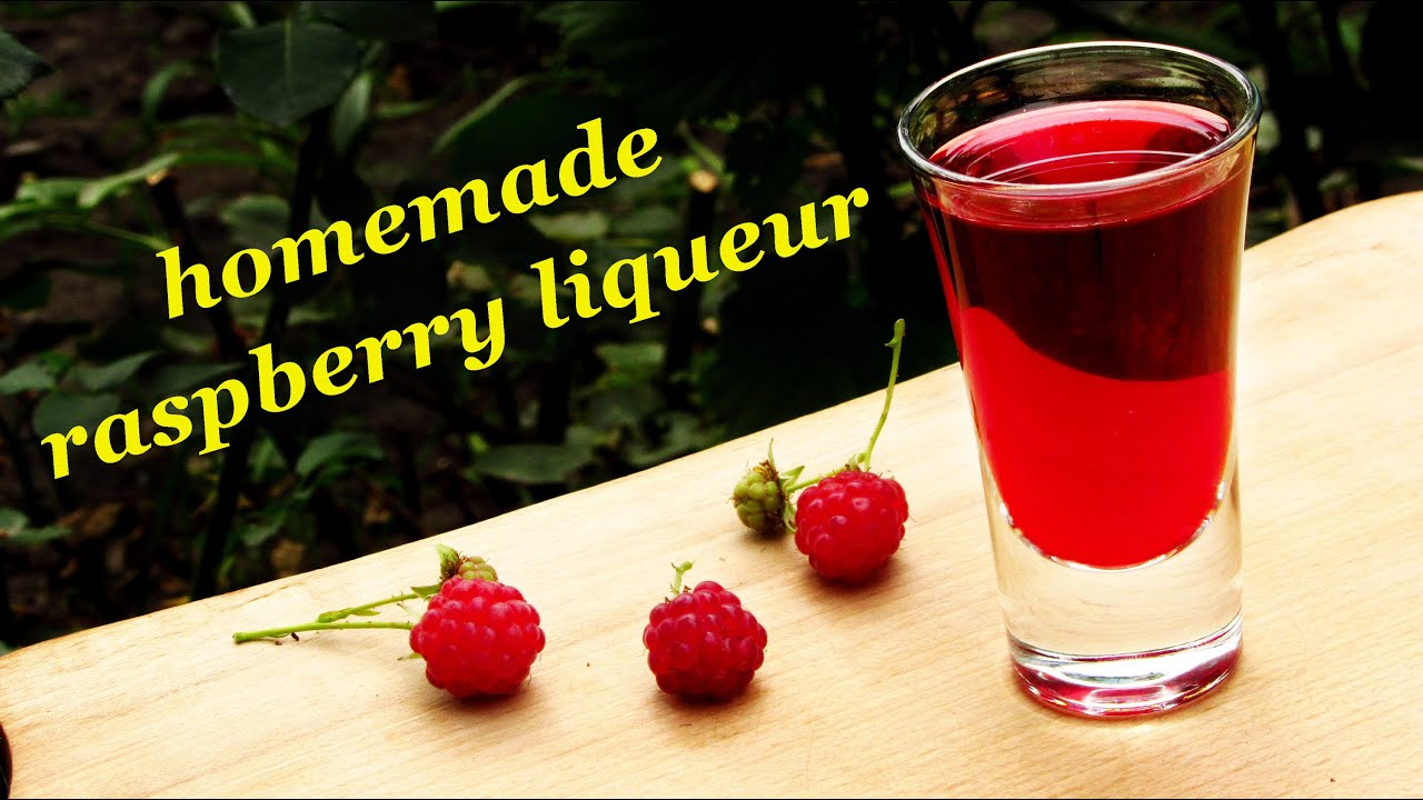 How to make Raspberry liqueur, recipes of homemade liqueur - YouTube