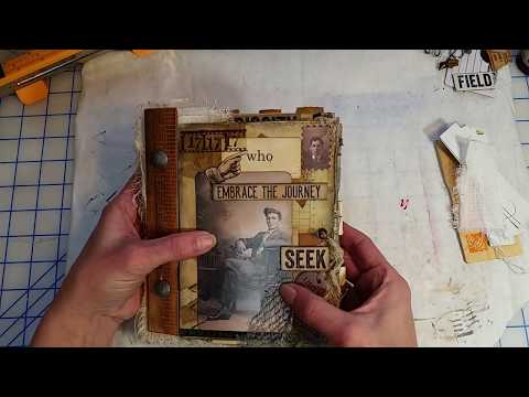 How To Attaching The Spine On Mixed Media Pages. Pt4
