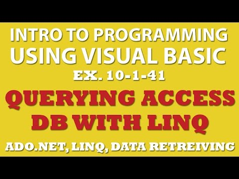 10-1-41 Visual Basic: Querying Movies Database with MS Access and Linq