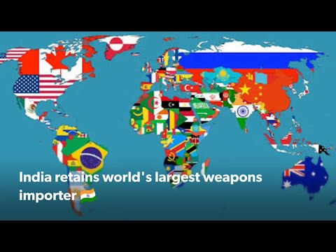 Top Arm's importer Nation : India at top in importing arms from RUSSIA, USA & ISRAEL