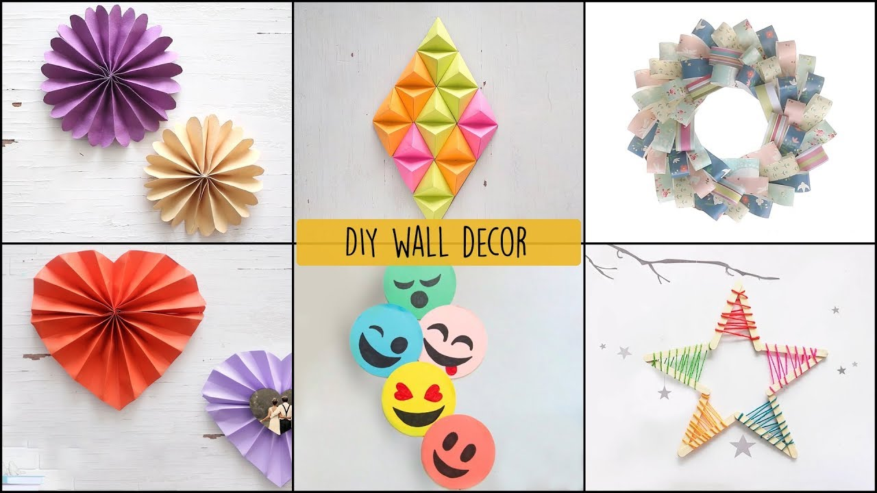 6 Cool And Easy Diy Wall Decor Ideas Diy Room Decor Youtube