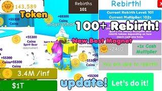 Update! Got 100+ Rebirth! New Rebirth Magnet! Trillion Money! - Magnet Simulator