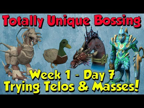 Week 1, Day 7 - Attempting Telos & Massing! [Runescape 3] Totally Unique Bossing #7