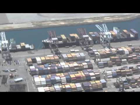 Port of Long Beach Aerial Video