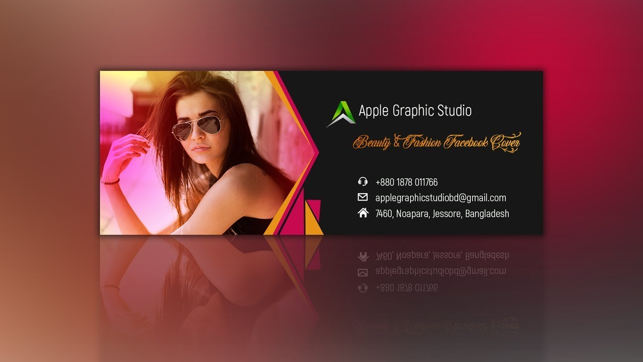Fashion & Beauty Facebook Cover Design Tutorial In