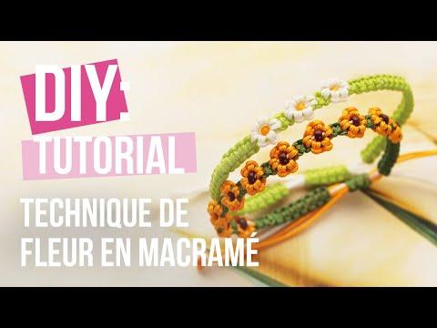 Confection de bijoux: Technique de fleur en macramé DIY