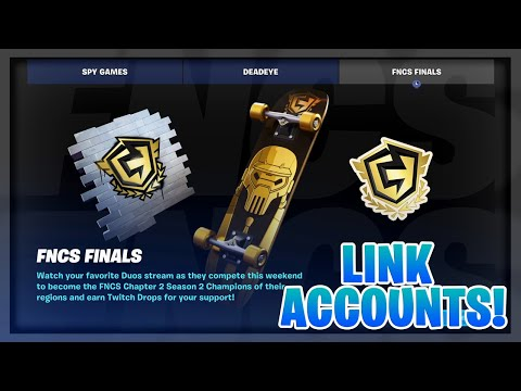 How To Get FNCS REWARDS And LINK Your TWITCH And EPIC Account In Fortnite! (Free Rewards!)