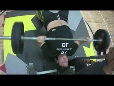 Jesse Gibbon Ol 2019 Cfl Combine Bench Press