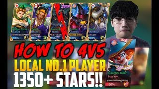 HOW TO 4v5 WORLD BEST PLAYER wth 1350+ Star! MOBILE LEGENDS CYCLOPS RANKED GAMEPLAY