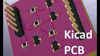 Kicad уроки 3 проектирование печатной платы в PCBnew